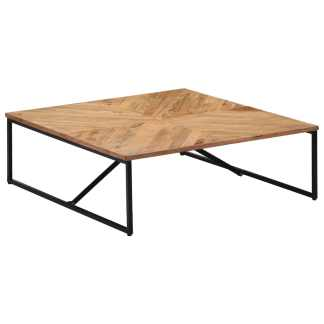 vidaXL Kavos staliukas, 110x110x36cm, akacijos med. masyvas