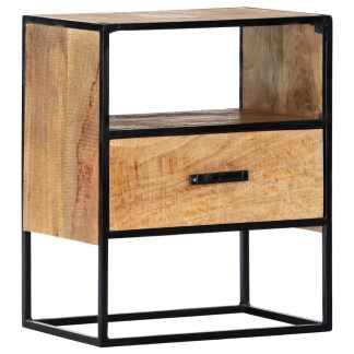 vidaXL Naktinis staliukas, 40x30x50cm, mango medienos masyvas