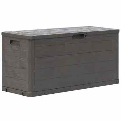 vidaXL Sodo daiktadėžė, ruda, 280l
