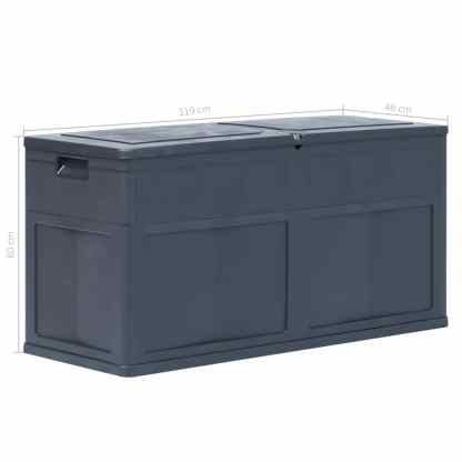 Sodo daiktadėžė, juodos spalvos, 320 L
