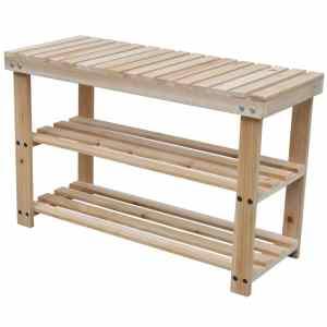 Batų lentynos-suoliukai, 2vnt., medienos masyvas, 2-1