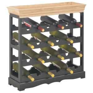 Spintelė vynui, juodos spalvos, 70×22,5×70,5cm, MDF