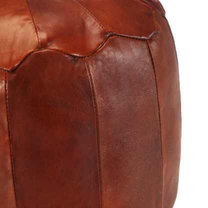 Pufas, gelsvai rudas, 40×35 cm, tikra ožkos oda