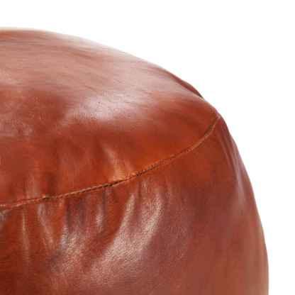Pufas, gelsvai rudas, 60x30cm, tikra ožkos oda
