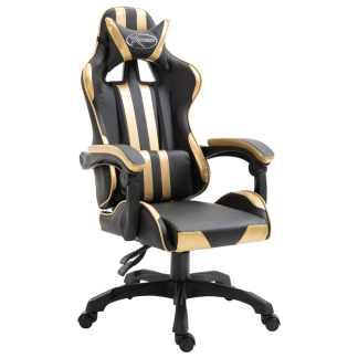vidaXL Žaidimų kėdė, aukso spalvos, poliuretano putos