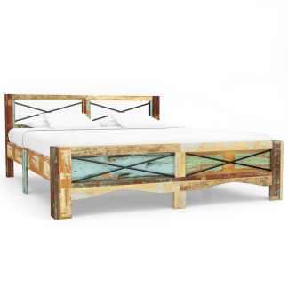 vidaXL Lovos rėmas, 160x200cm, perdirbtos medienos masyvas