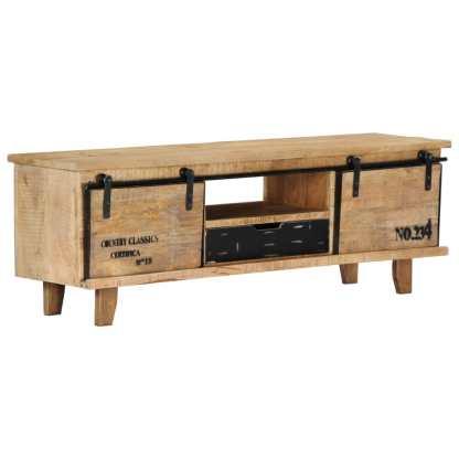 vidaXL TV spintelė, 120x30x40cm, mango medienos masyvas