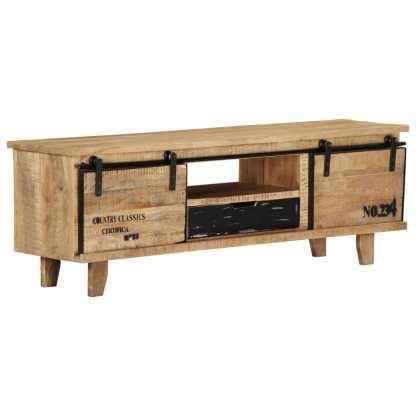 TV spintelė, 120x30x40cm, mango medienos masyvas