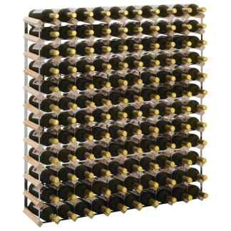 vidaXL Stovas vynui skirtas 120 butelių, pušies medienos masyvas
