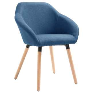 vidaXL Valgomojo kėdė, mėlynos spalvos, audinys
