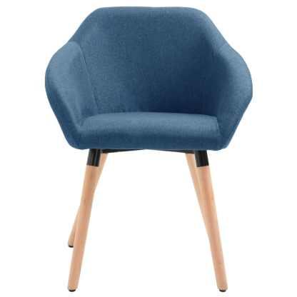 Valgomojo kėdė, mėlynos spalvos, audinys