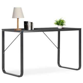 vidaXL Kompiuterio stalas, juodas, 120x60x73cm