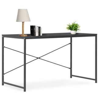 vidaXL Kompiuterio stalas, juodas, 120x60x70cm