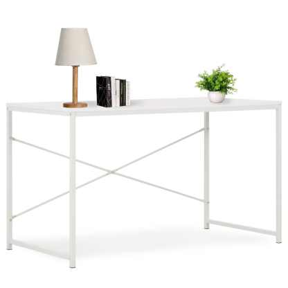 vidaXL Kompiuterio stalas, baltas, 120x60x70cm