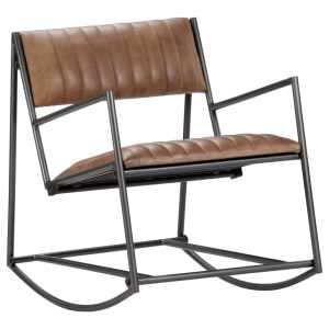 Supamas krėslas, šviesiai rudos sp., tikra oda