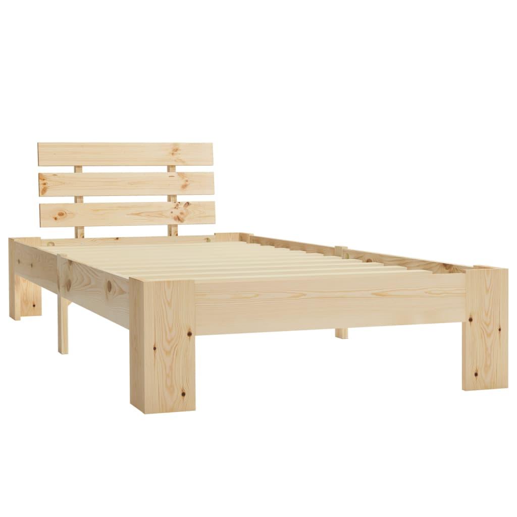 Wandplank 200 Cm.Lovos Rėmas 100x200 Cm Pusies Medienos Masyvas