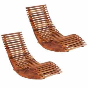 vidaXL Supami saulės gultai, 2vnt., akacijos medienos masyvas