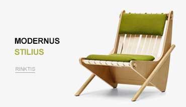 modernaus stiliaus baldai
