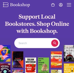 Image of the Bookshop dot org search bar.