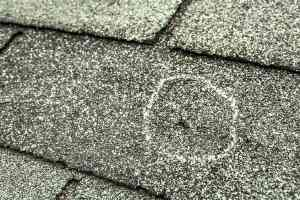 Roof replacement after hailstorm