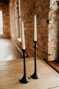 black candlesticks