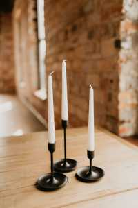 black and white candlesticks