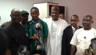 Heroic Reception for Eaglets in Abuja