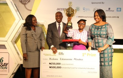 Ifeoluwa Abiodun emerges winner of 2016 NSE essay competition