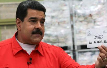 Venezuela minimum wage to rise by 50% 'to combat inflation'