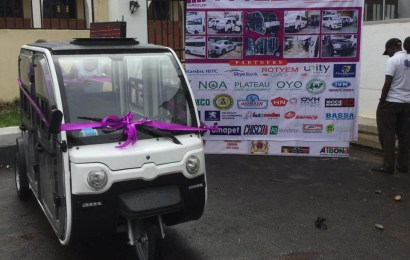 Firm unveils LPG powered tricycle