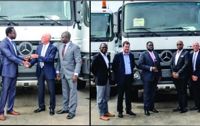 Weststar Associates delivers 55 Mercedes-Benz trucks to Total Nigeria