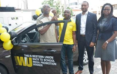 Diamond Bank customer wins car in western union promo