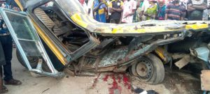 Two Passengers Killed As Container Falls On Bus In Lagos