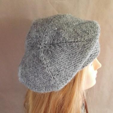 womne hat, grey winter hat, handmade