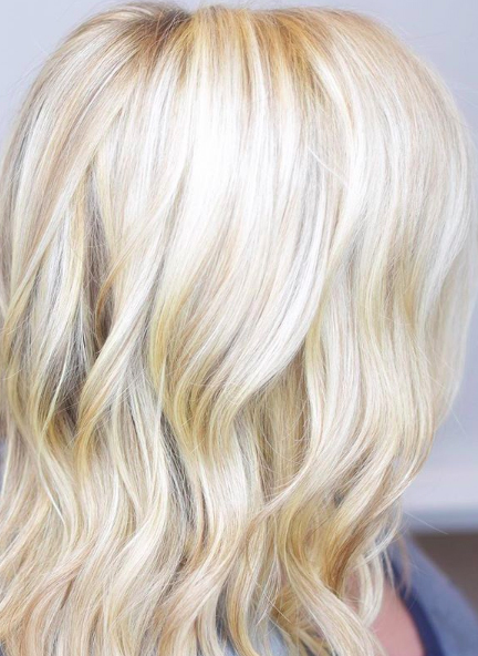 bright blonde hair
