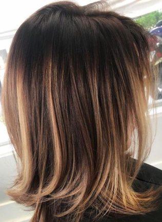 brunette lob