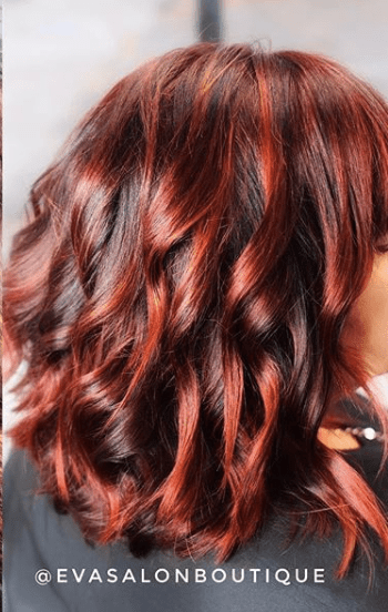 red vibrant hair