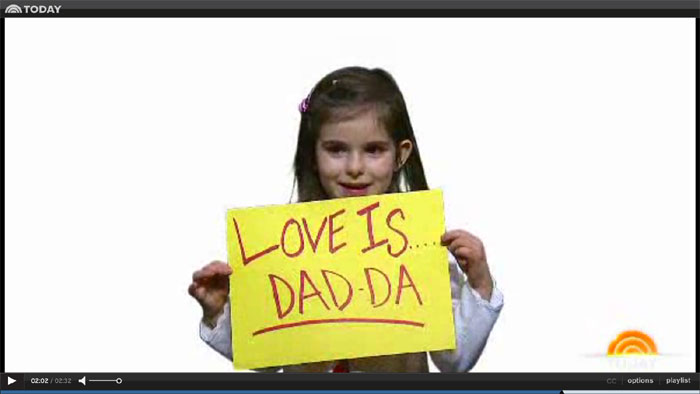 love is dad, today show,  valentine's day