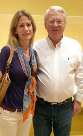 Author/humorist Anna Lefler and her father.
