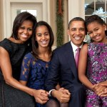 The Obama family in 2011.