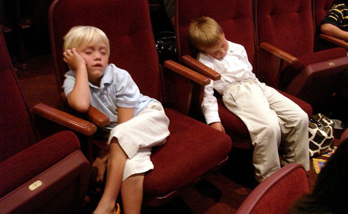 movie theater after kids asleep