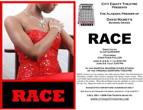 """Flyer, David Mamet's """"Race,"""" 2011"""