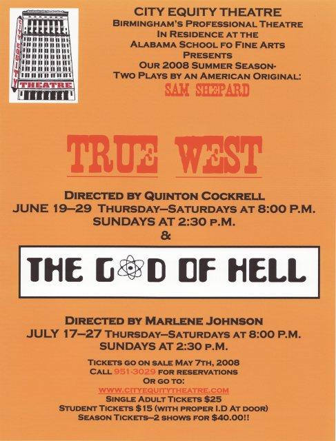 Sam Shepard season poster, 2008