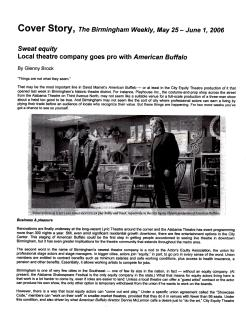 """Birmingham Weekly cover story, """"Sweat Equity,"""" by Glenny Brock, May 25 2006 (1 of 3)"""
