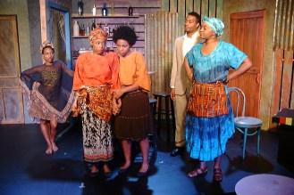 Jospehine (Shronda Major), Sophie (Emana Rachelle), Salima (Danye Brown), Christian (Cecil Washington, Jr.), Mama Nadi (Chalethia Williams)