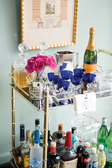 Jennifer Boles Bar Cart-Emily Henderson