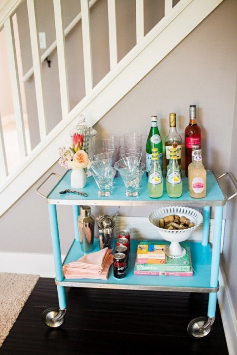 Style Me Pretty House Tour From Hey Gorgeous-Incredible Vintage Bar