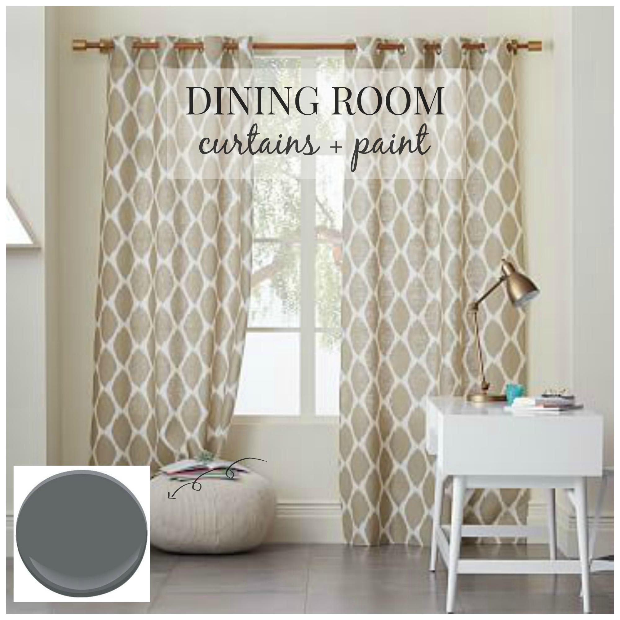 Dining Room Design-Curtains + Paint - City Farmhouse on Dining Room Curtain Ideas  id=27743