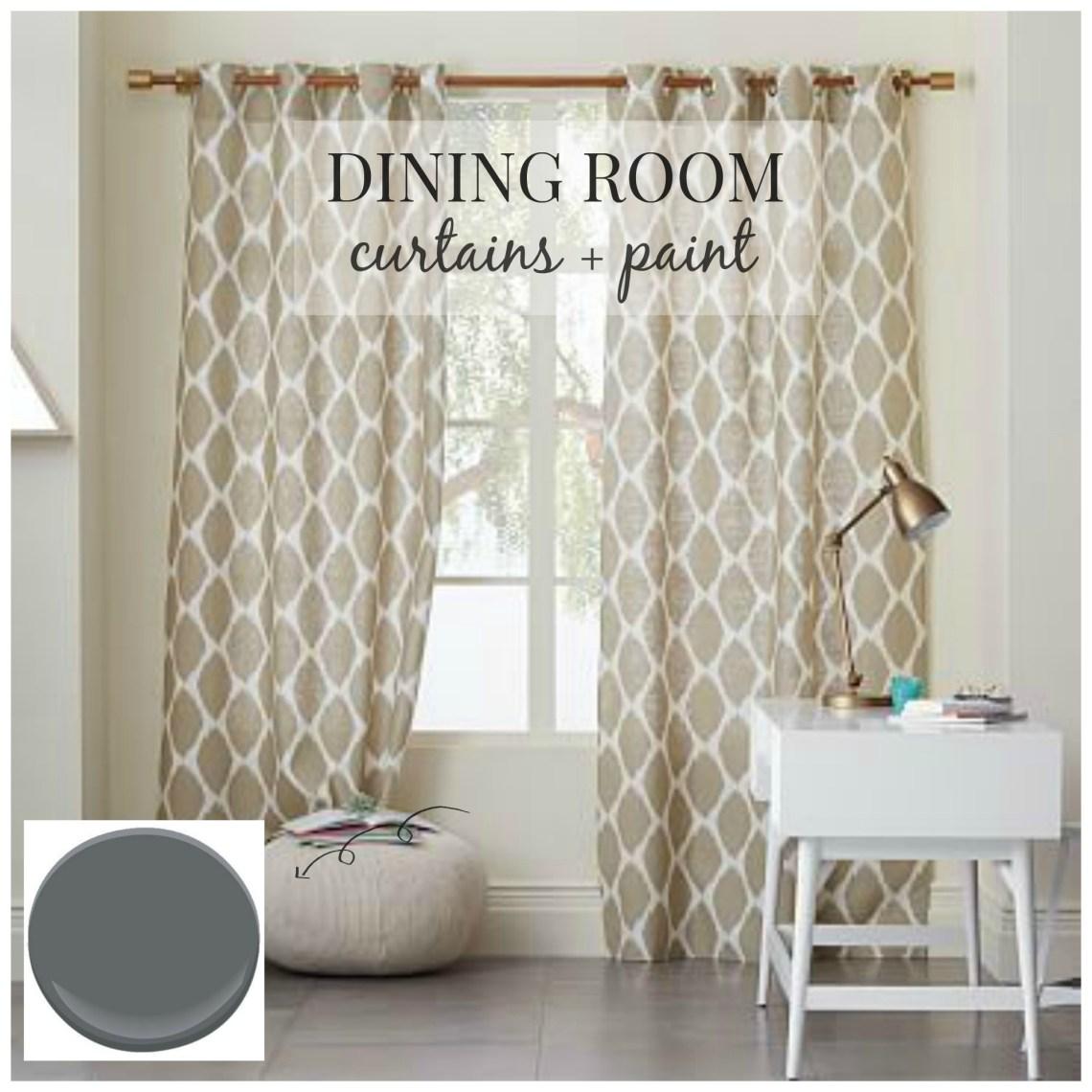 Dining Room Design Curtains Paint City Farmhouse