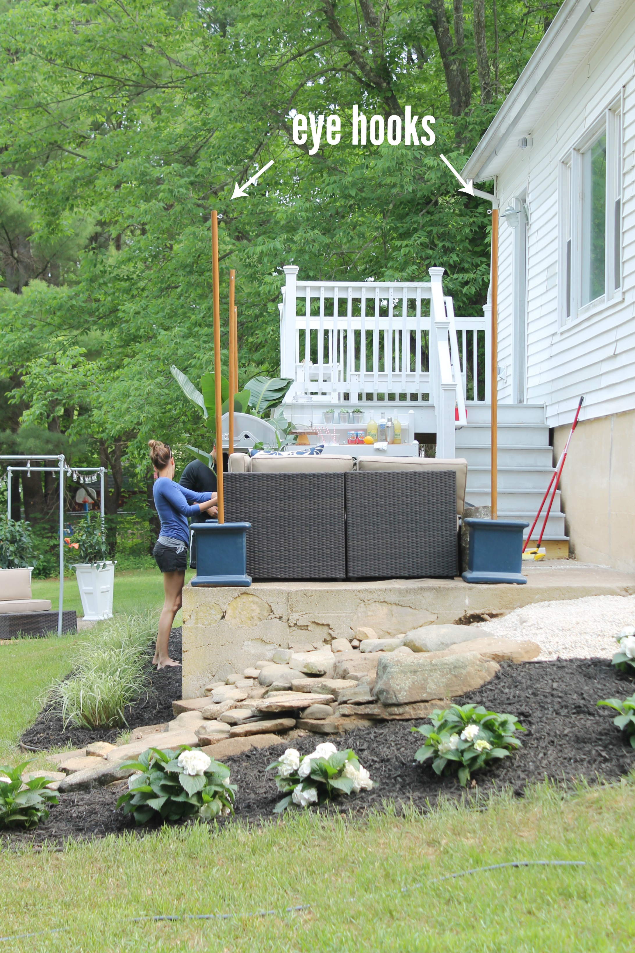 DIY Outdoor Light Poles - City Farmhouse on Backyard String Lights Diy  id=99424